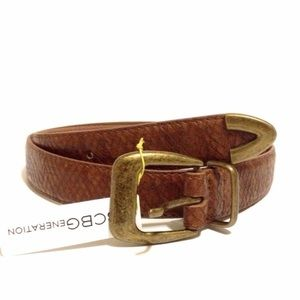 BCBGENERATION BELT BROWN WESTERN COWGIRL SMALL